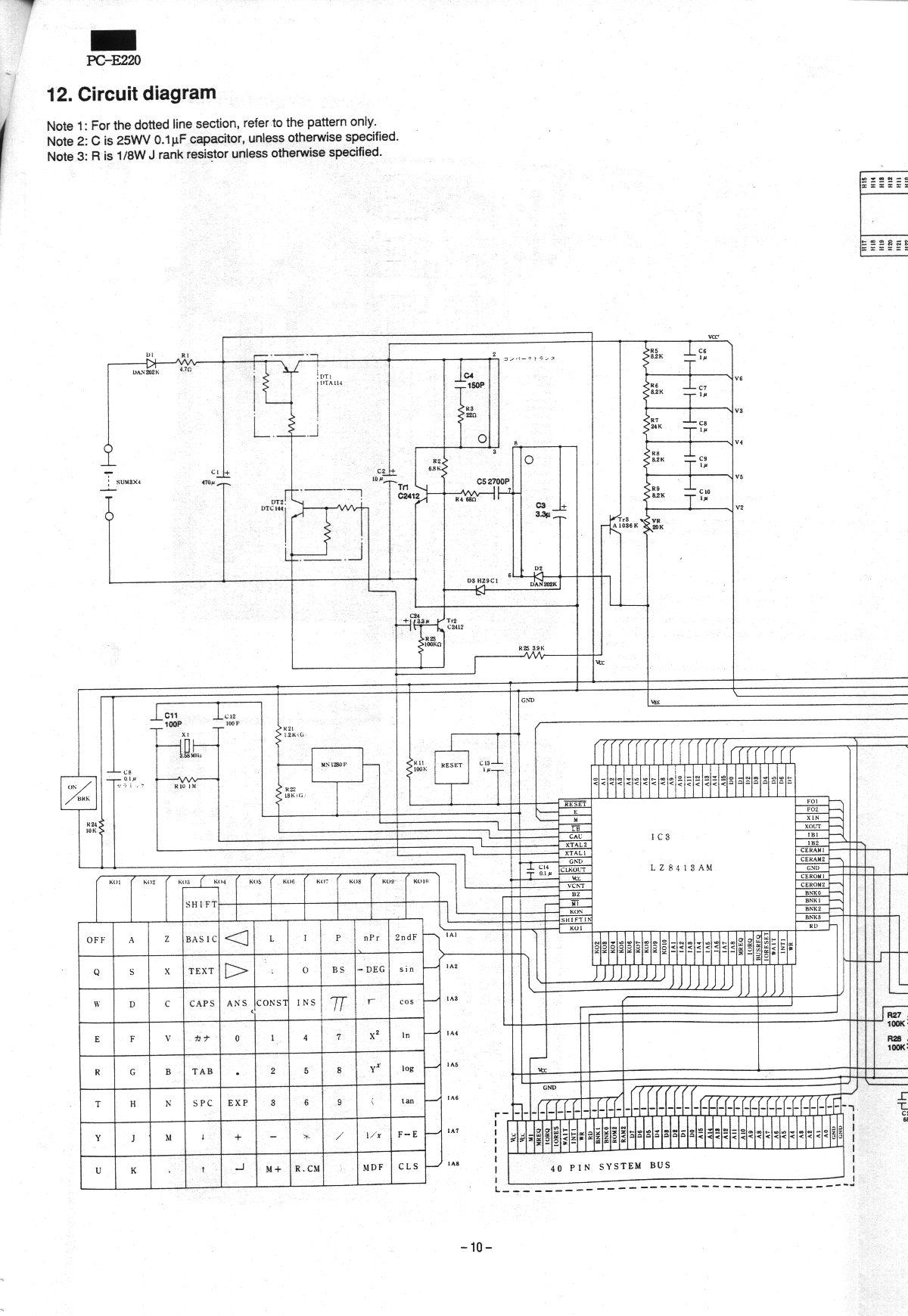 Listing Of Achim Pc E220 Note 2 Circuit Diagram Service Man10