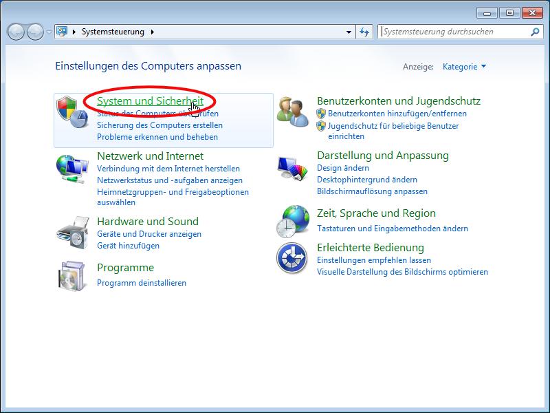 Windows 7 Client Konfiguration Wohnheim Netzwerk